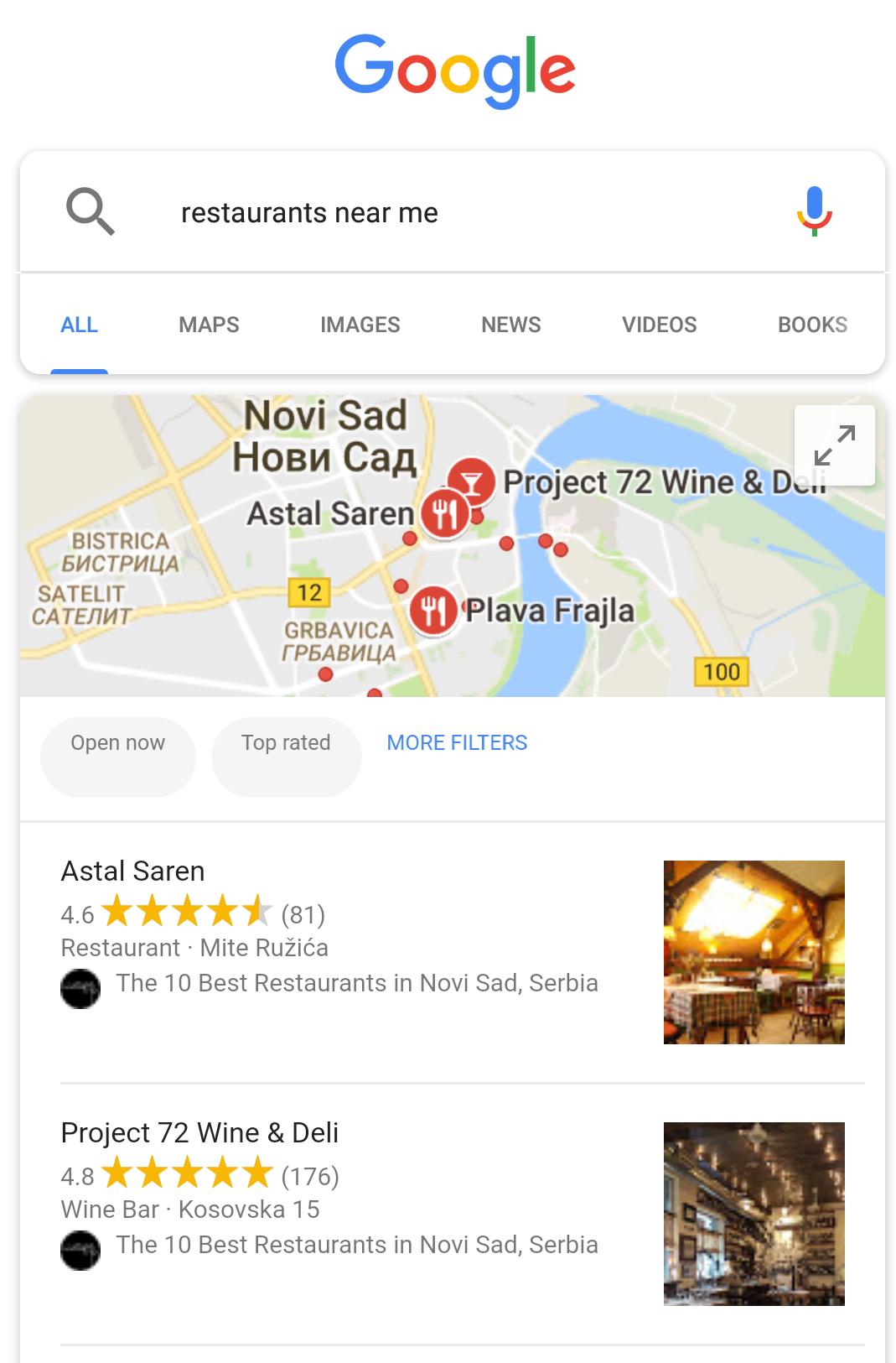 google near me off