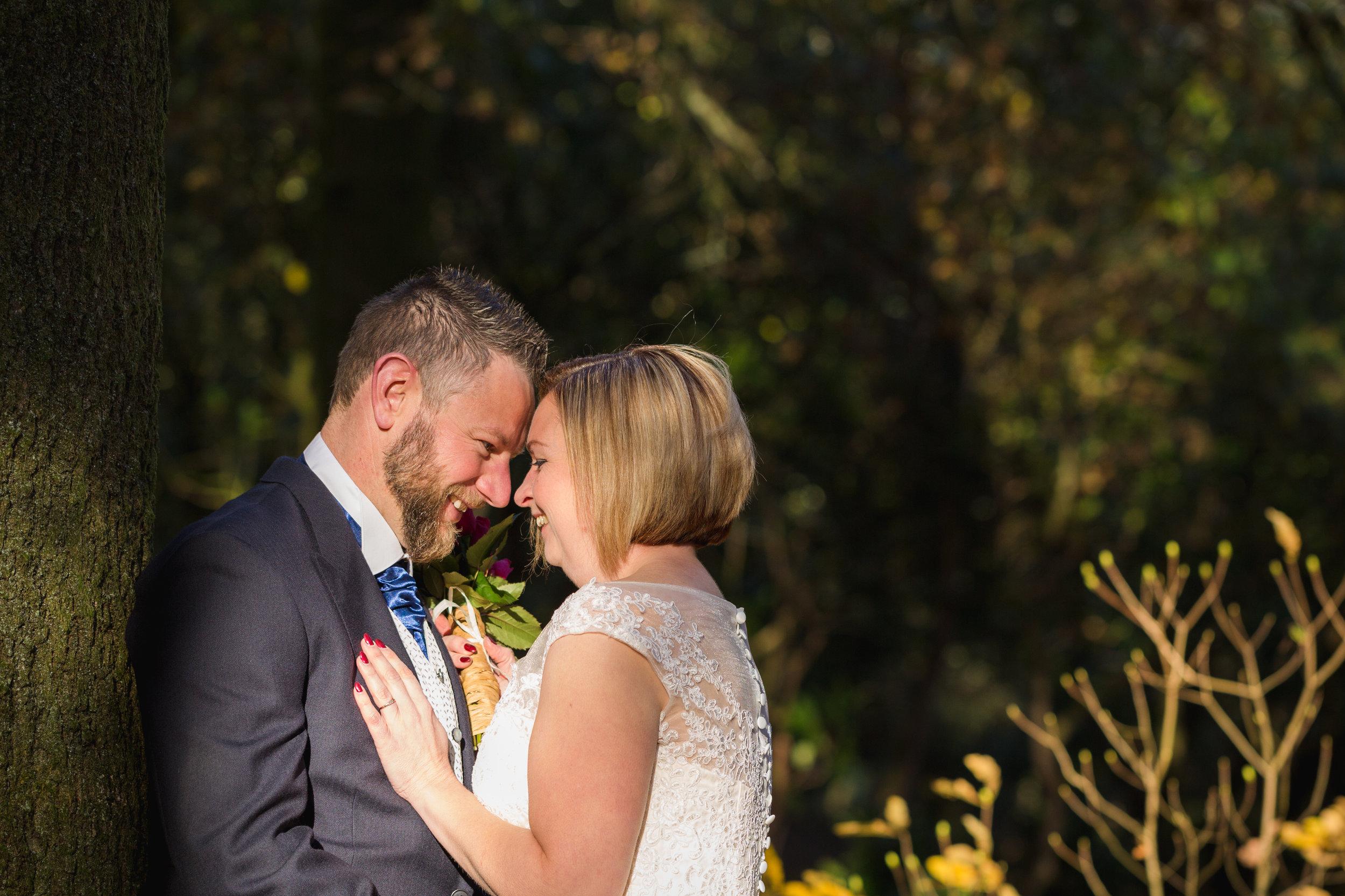 Portrait wedding photo shoot at Cefn On Park, Cardiff