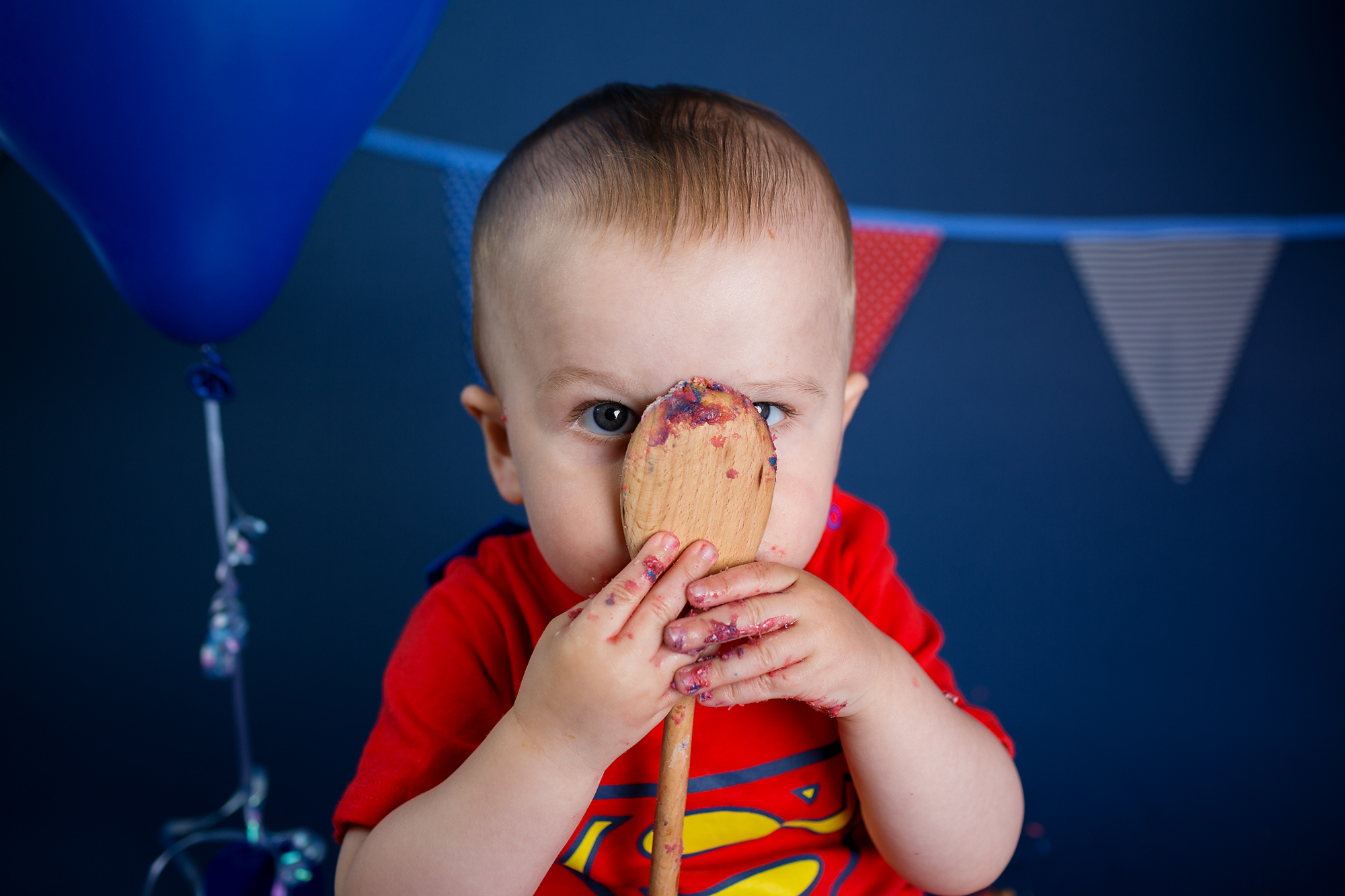 Cake Smash and first birthday photographer, Caerphilly near Cardiff, South Wales