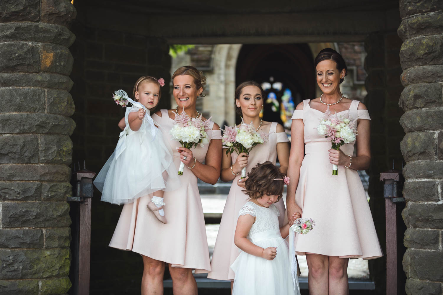 St Martins church Caerphilly wedding photographer