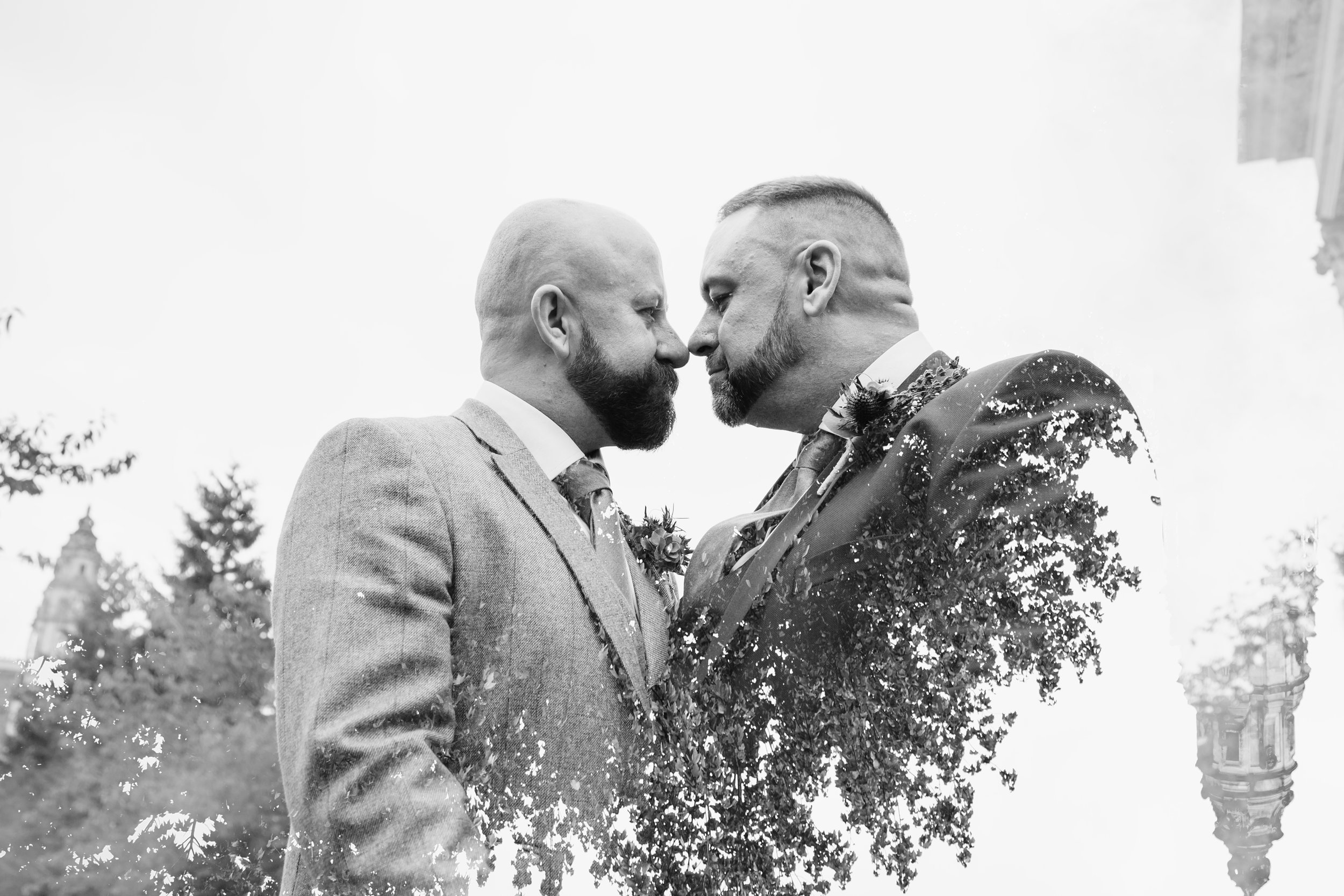 Gay wedding photos at Cardiff City Hall. LGBT friendly wedding photographer