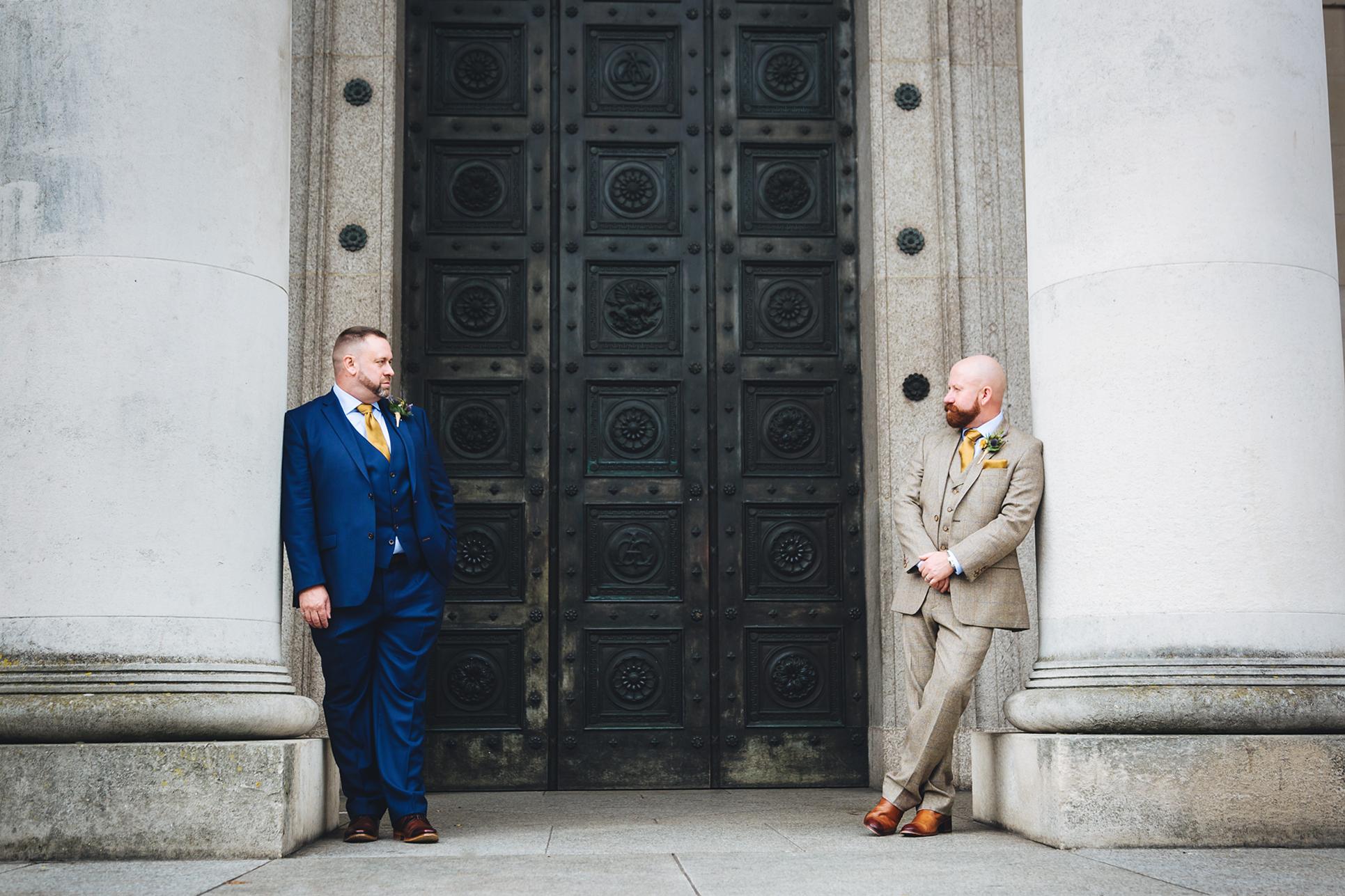 Gay wedding City Hall Cardiff. Gay friendly wedding photographer