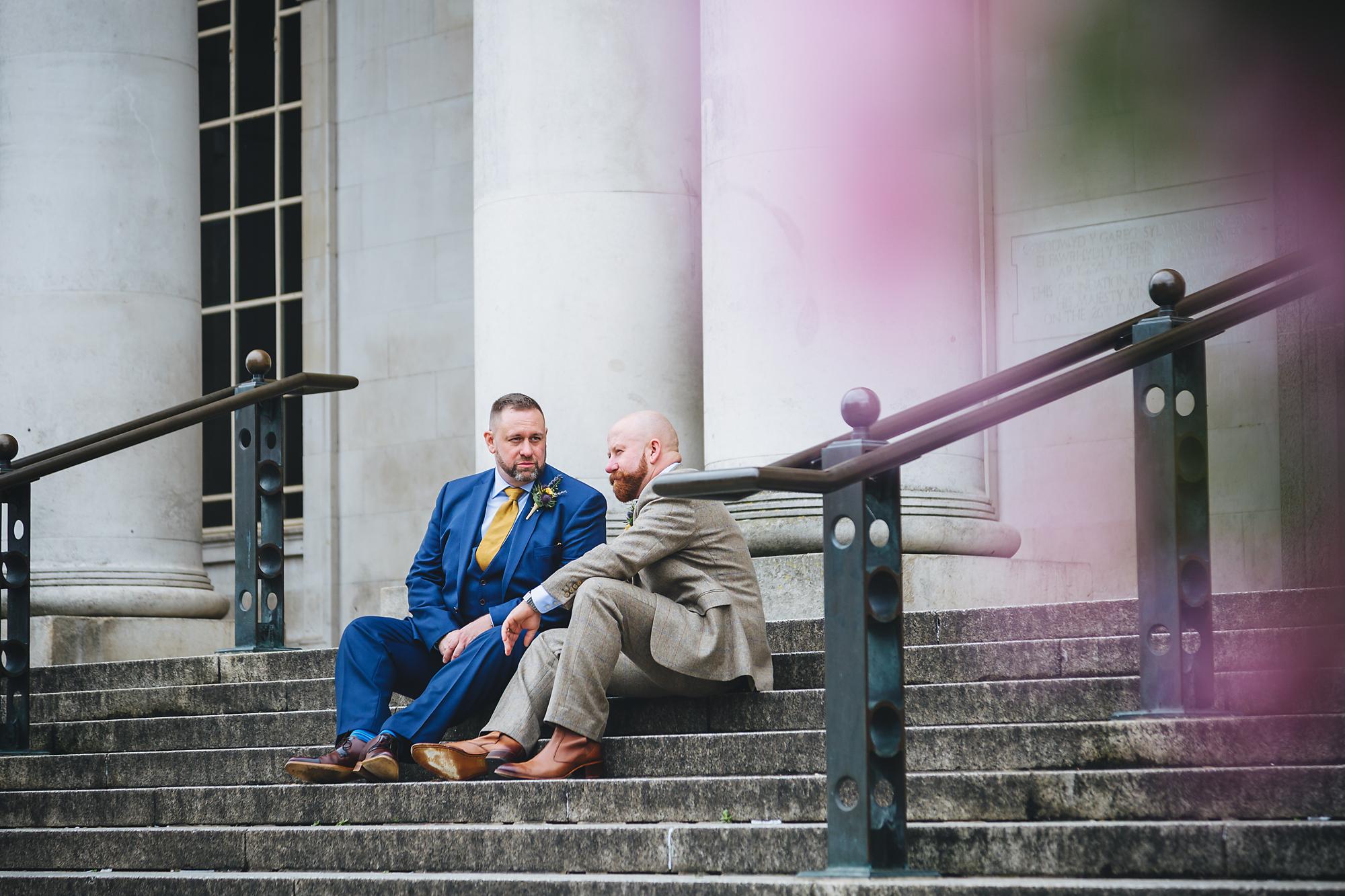 Cardiff City Hall same sex wedding photographer.