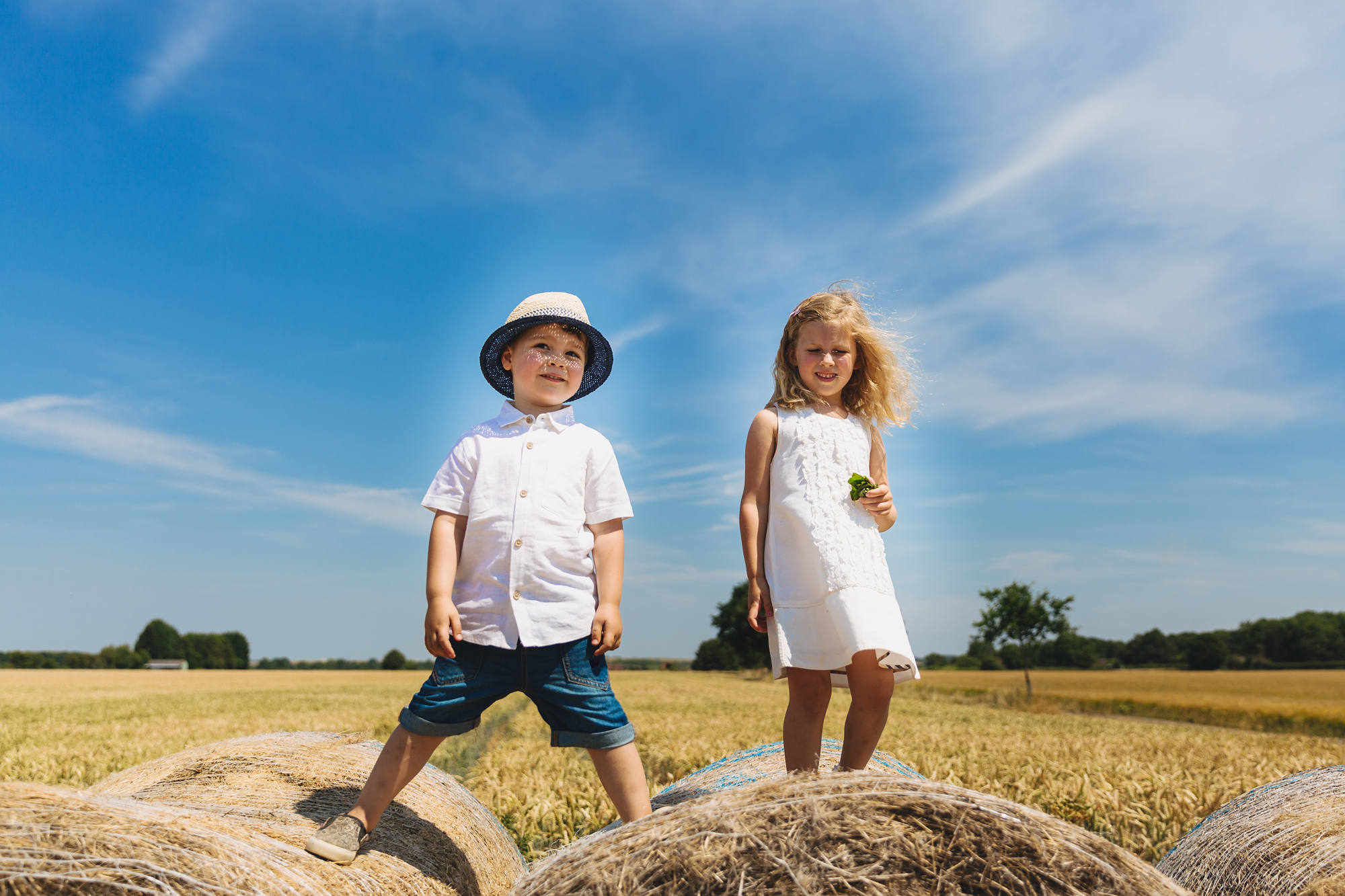 Pershore confetti field children portraits