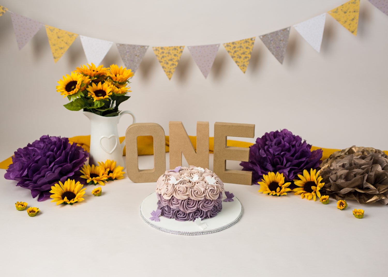 Sunflower cake smash cardiff, south wales, caerphilly