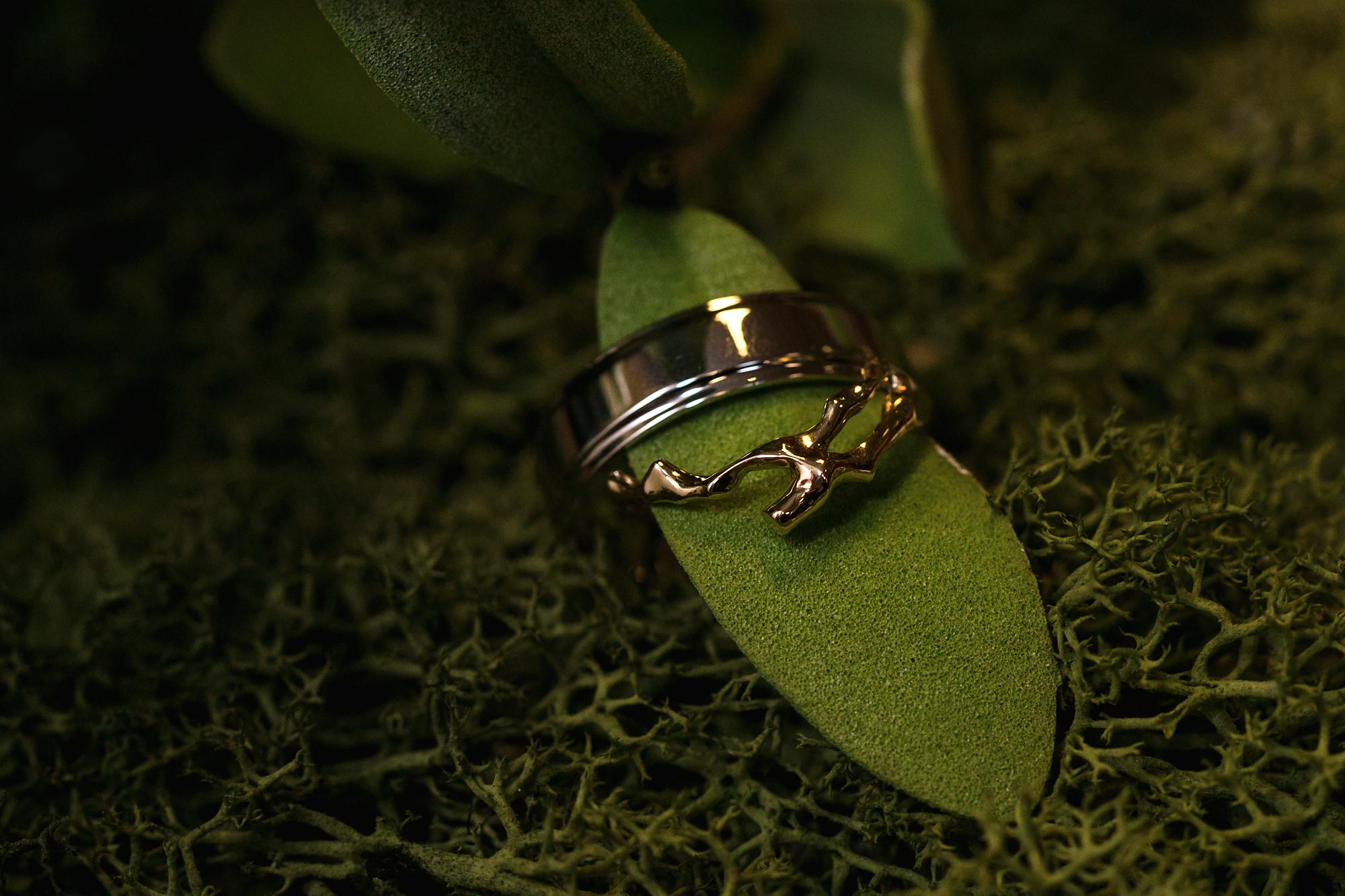 wedding rings at Dinas Powys golf club