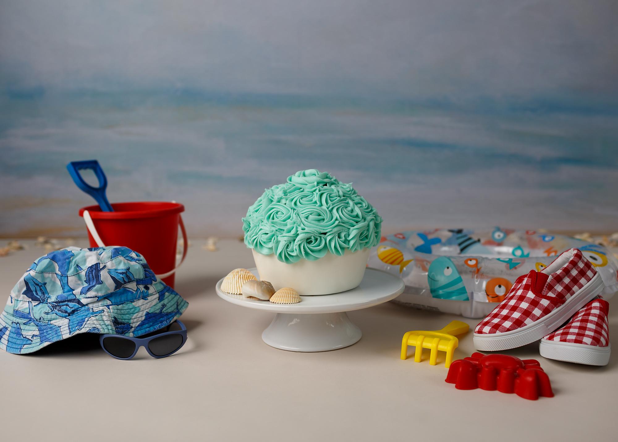 Beach themed Cake Smash Cardiff