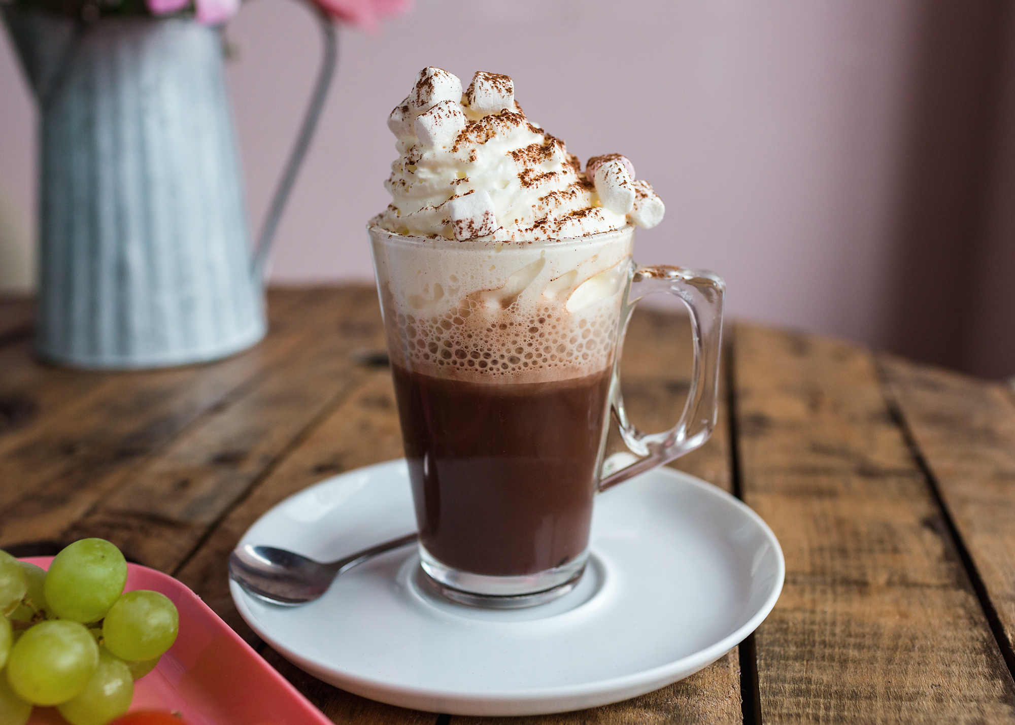 Hot chocolate at Miss B's cafe, Bedwas