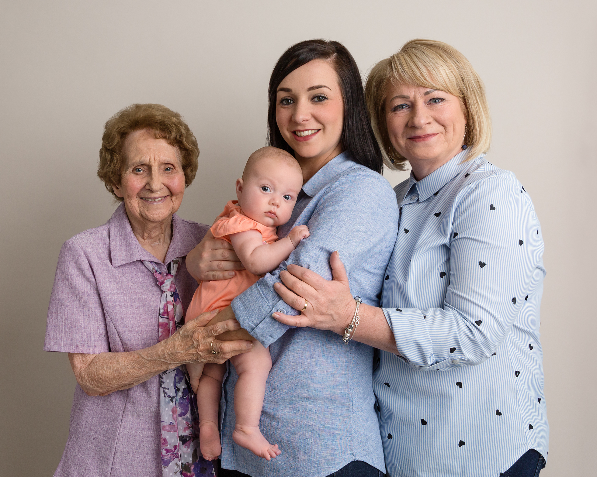 4 generations in one photography, caerphilly, south wales