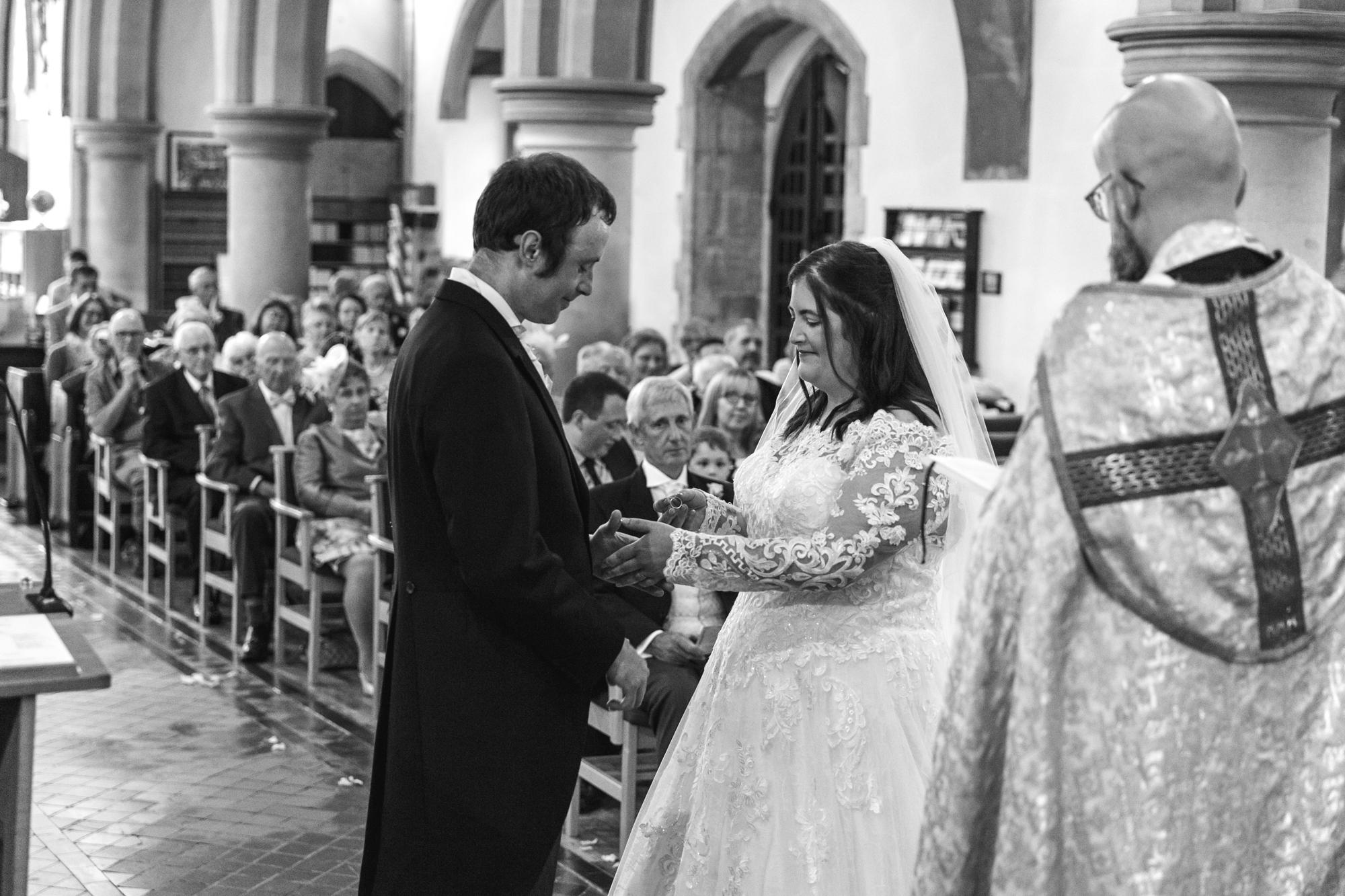 Wedding Vows at St Martins Church Caerphilly