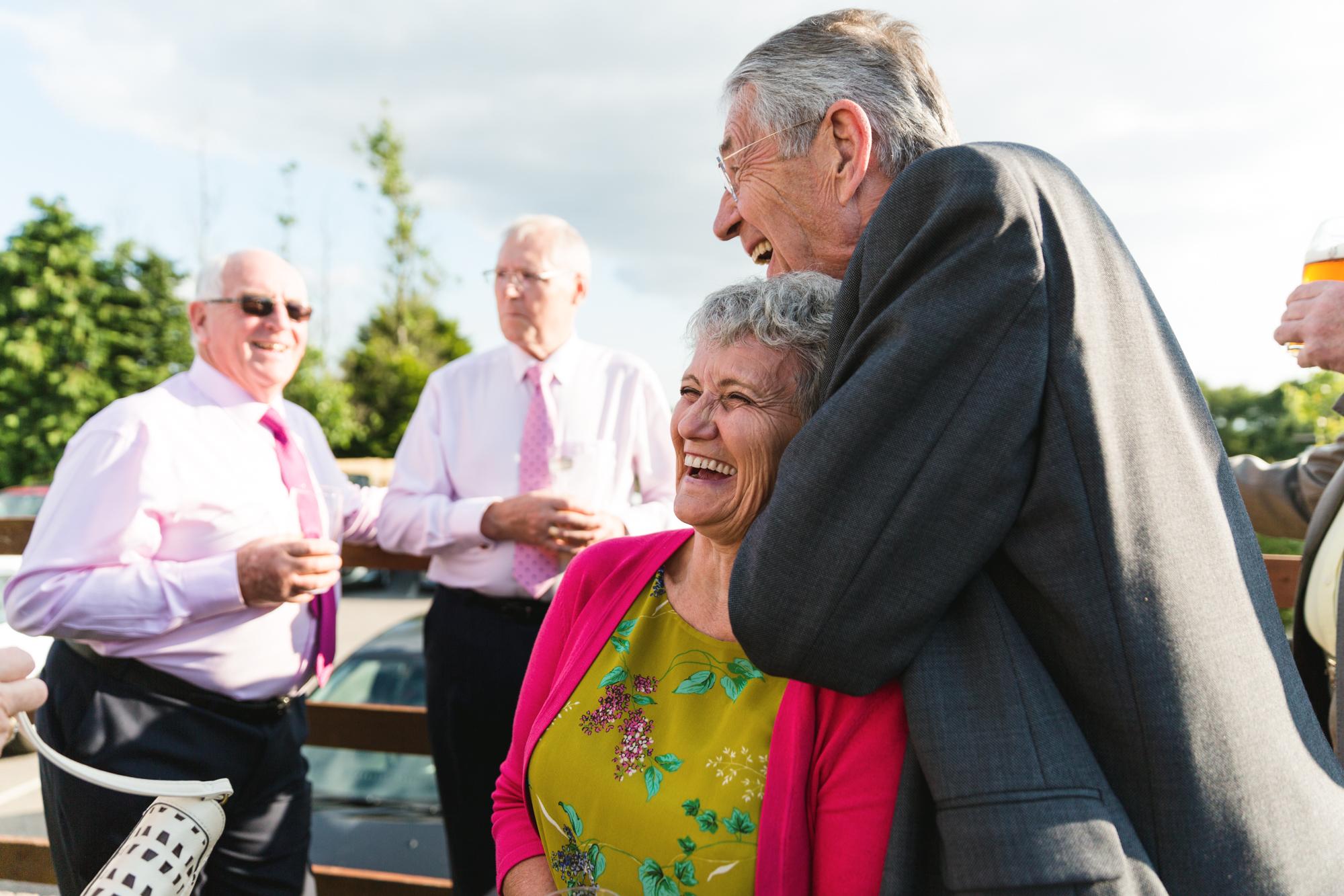 wedding guests at Ridgeway golf club thornhill, caerphilly mountain