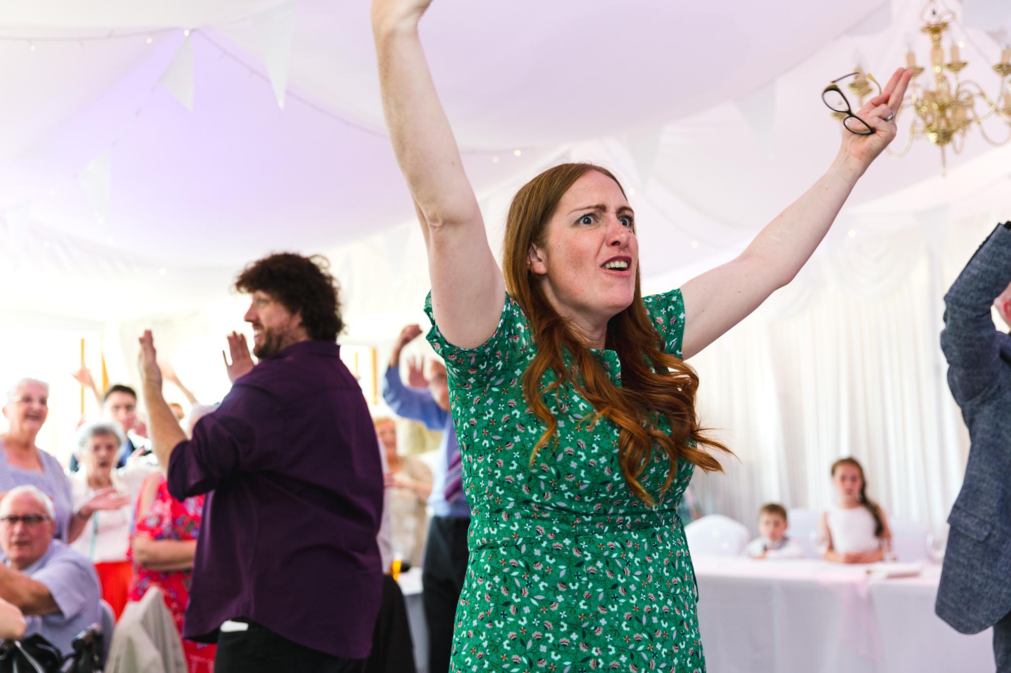 wedding dancing wars in Ridgeway Golf club caerphilly mountain