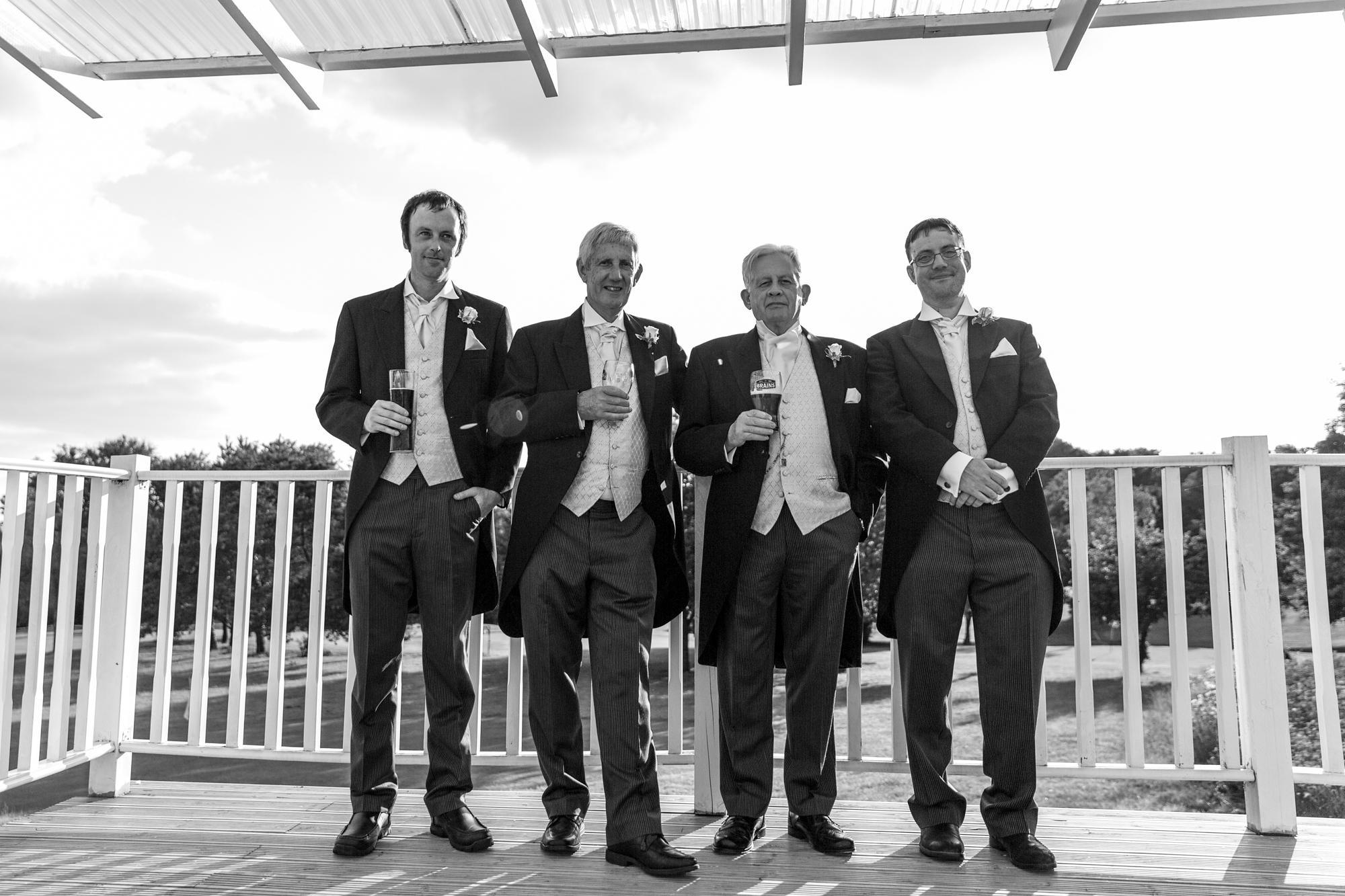 Groomsmen at Ridgeway Golf Club wedding reception
