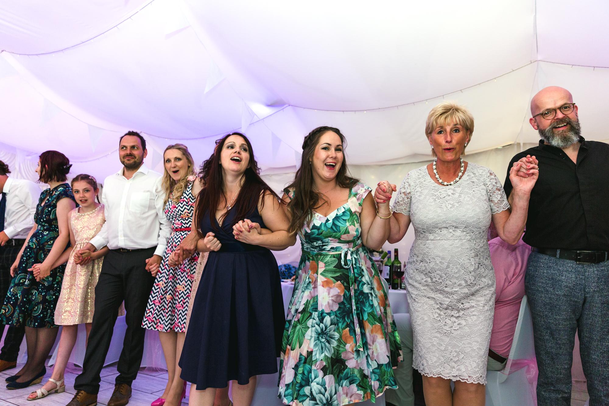 the hoki coki at Ridgeway Golf Course, Thornhill, Caerphilly Mountain. Wedding first dance