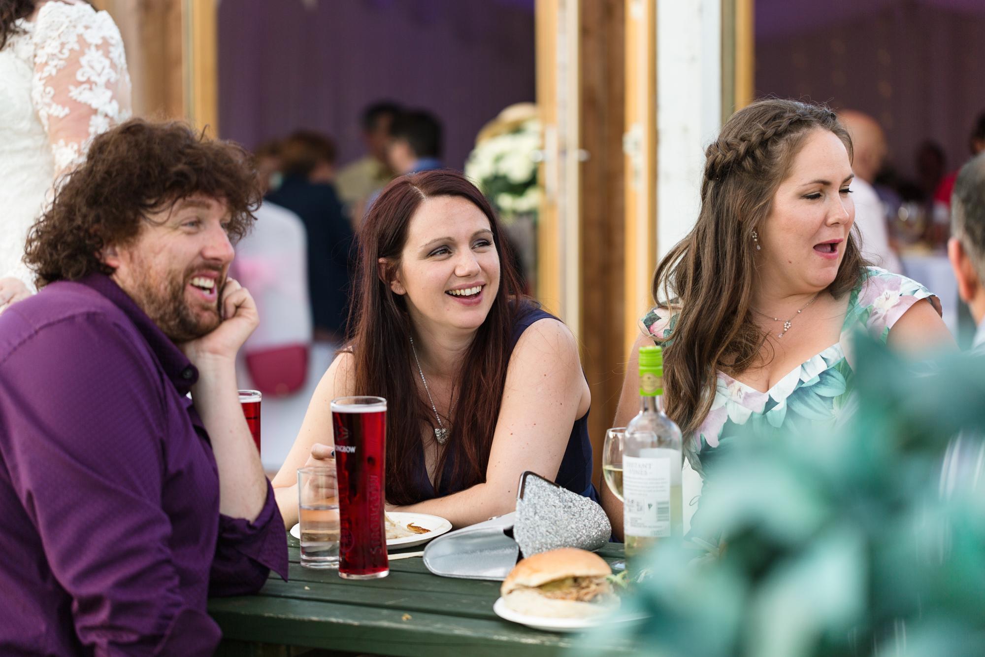 wedding guests at ridgeway golf club, Cardiff