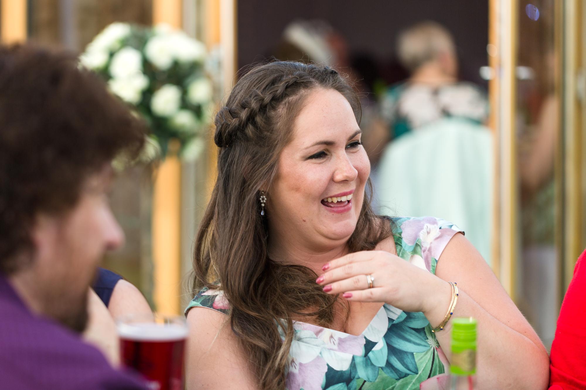 wedding guests having fun at Ridgeway Golf club, thornhill