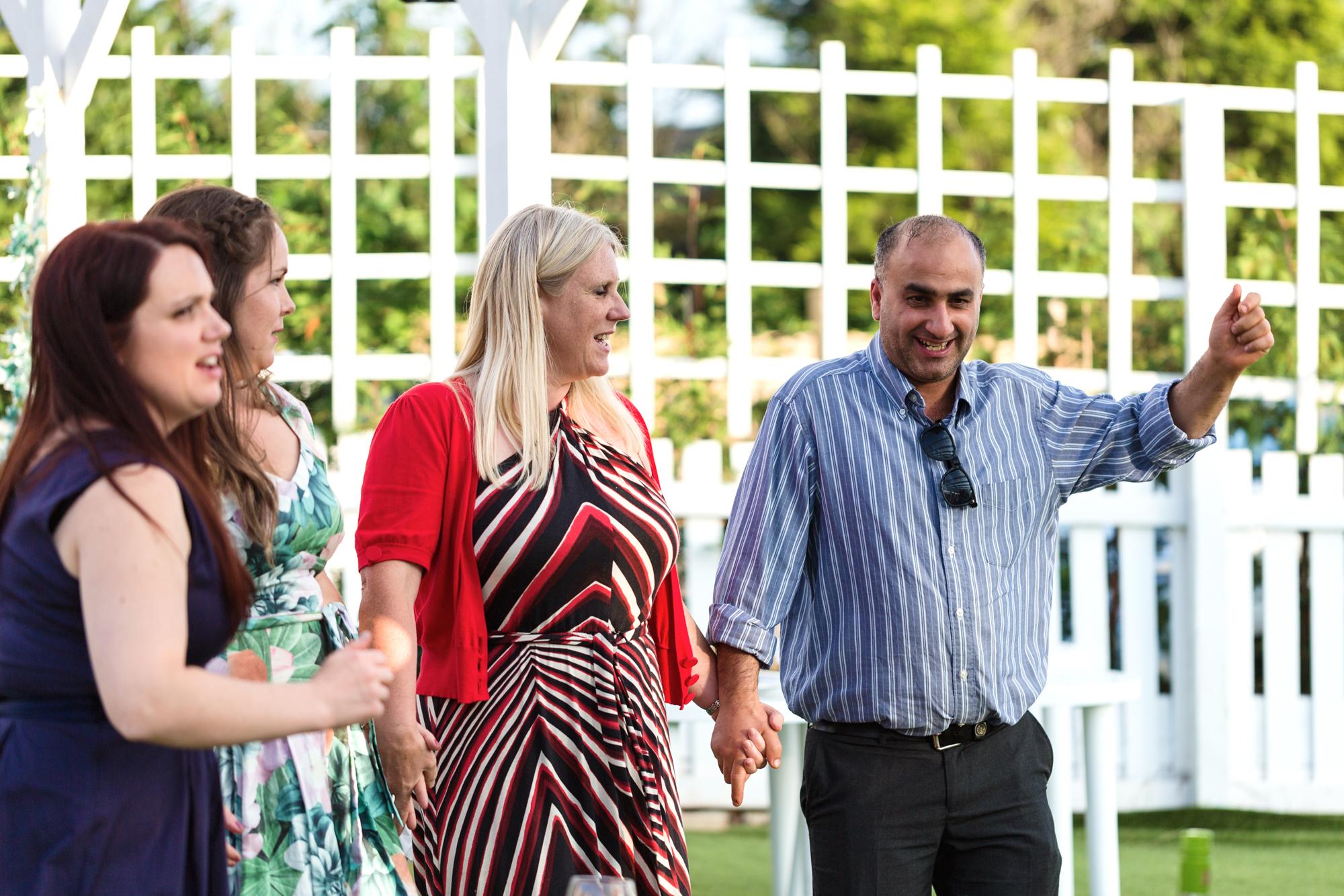 wedding guest moments Ridgeway golf club Caerphilly Mountain