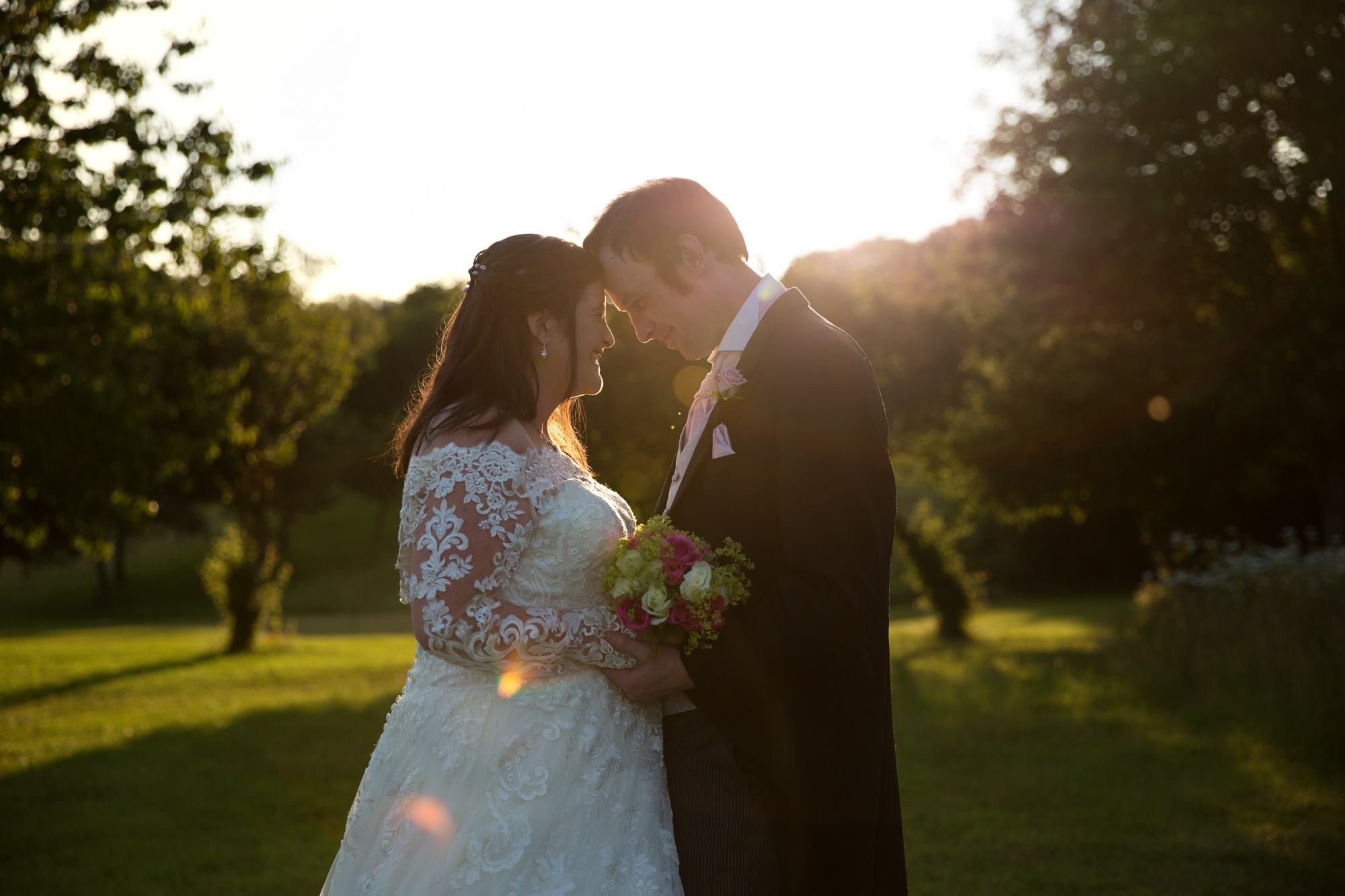 bride and groom couple shots at Ridgeway golf course Caerphilly Mountain, Thornhill