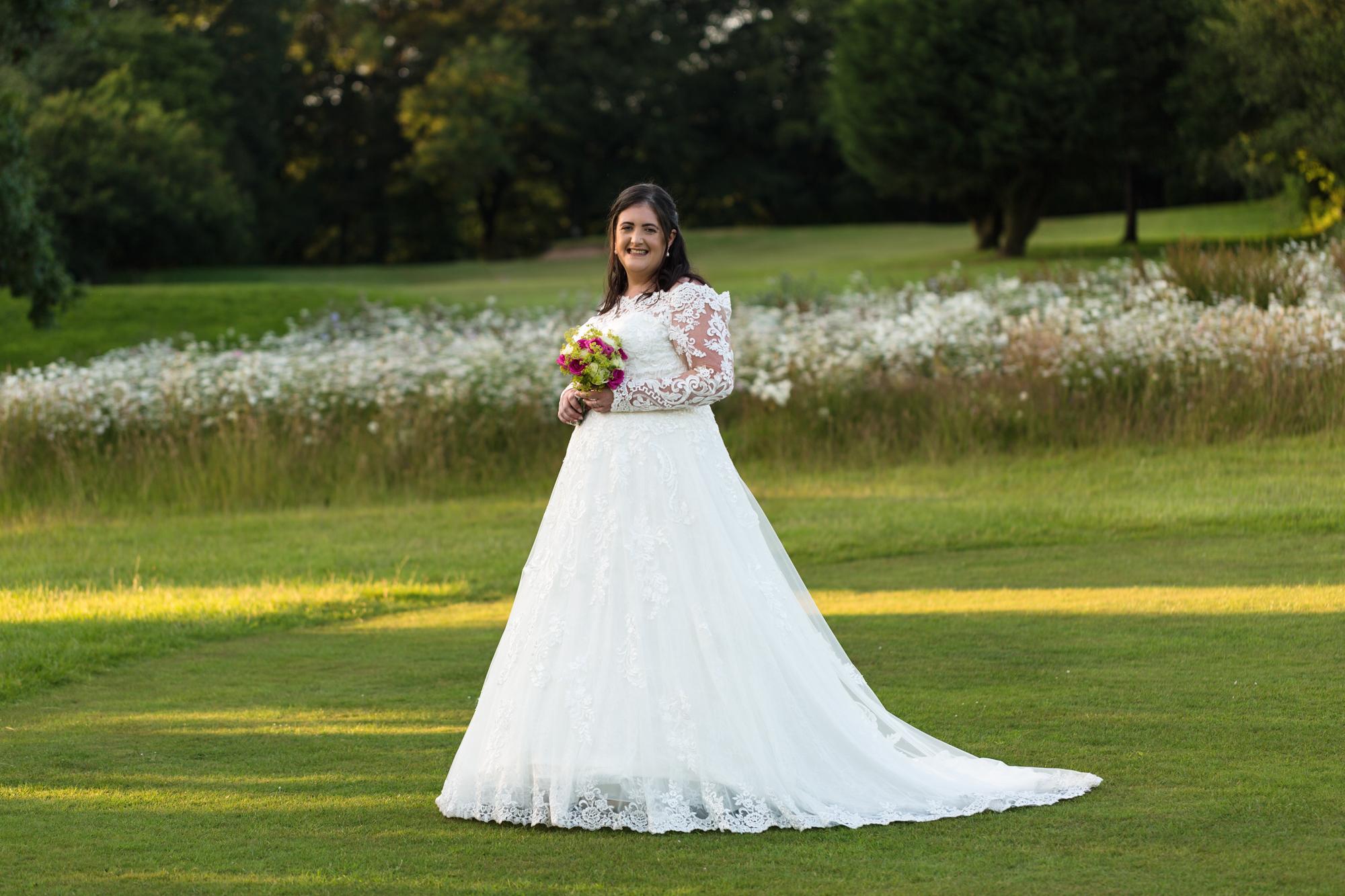 bride at Ridgeway golf club Caerphilly Mountain, Thornhill