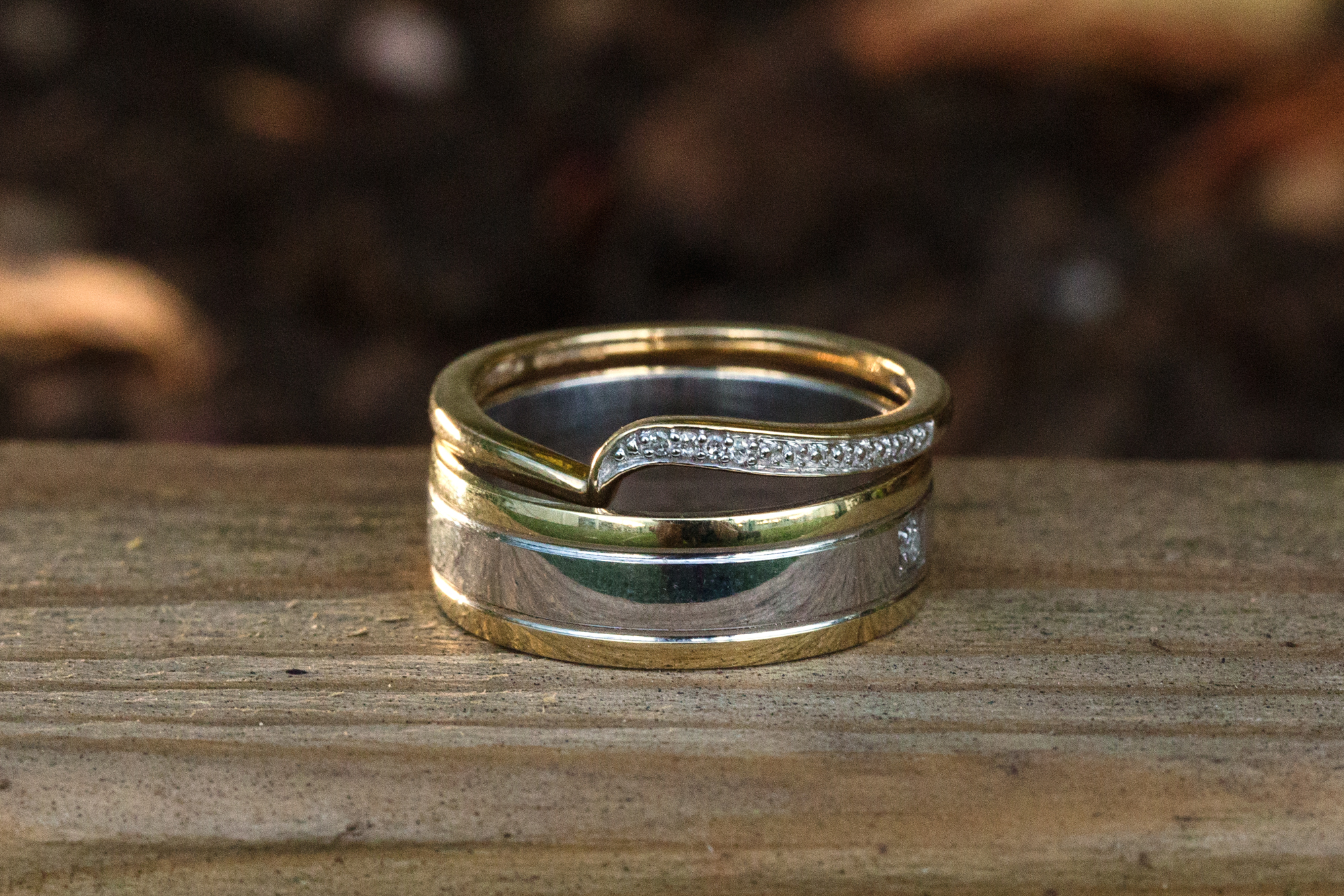 Wedding rings at Ridgeway gold course, Thornhill, Caerphilly Mountain
