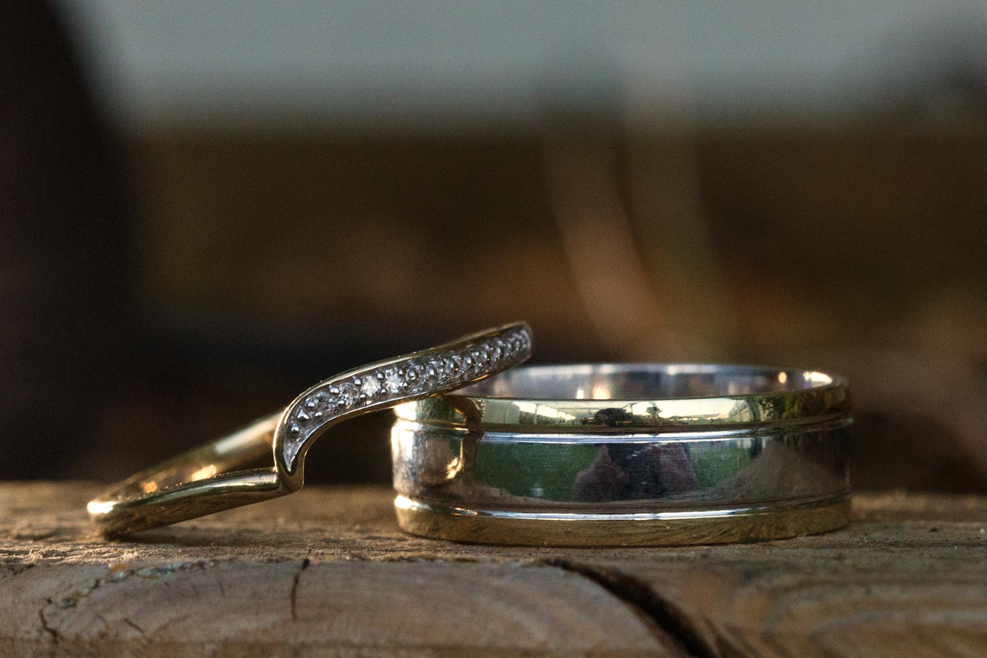 wedding rings taken in Ridgeway Golf club, Caerphilly mountain