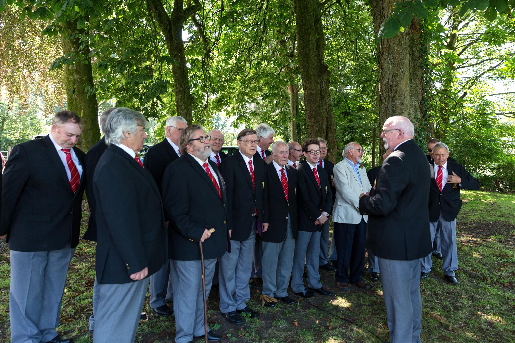 Barges Male Voice choir at llechwen hall wedding