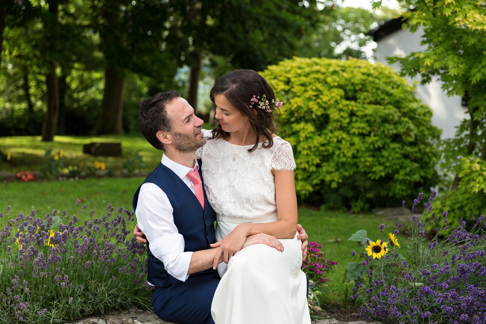 Couple portraits at llechwen hall wedding