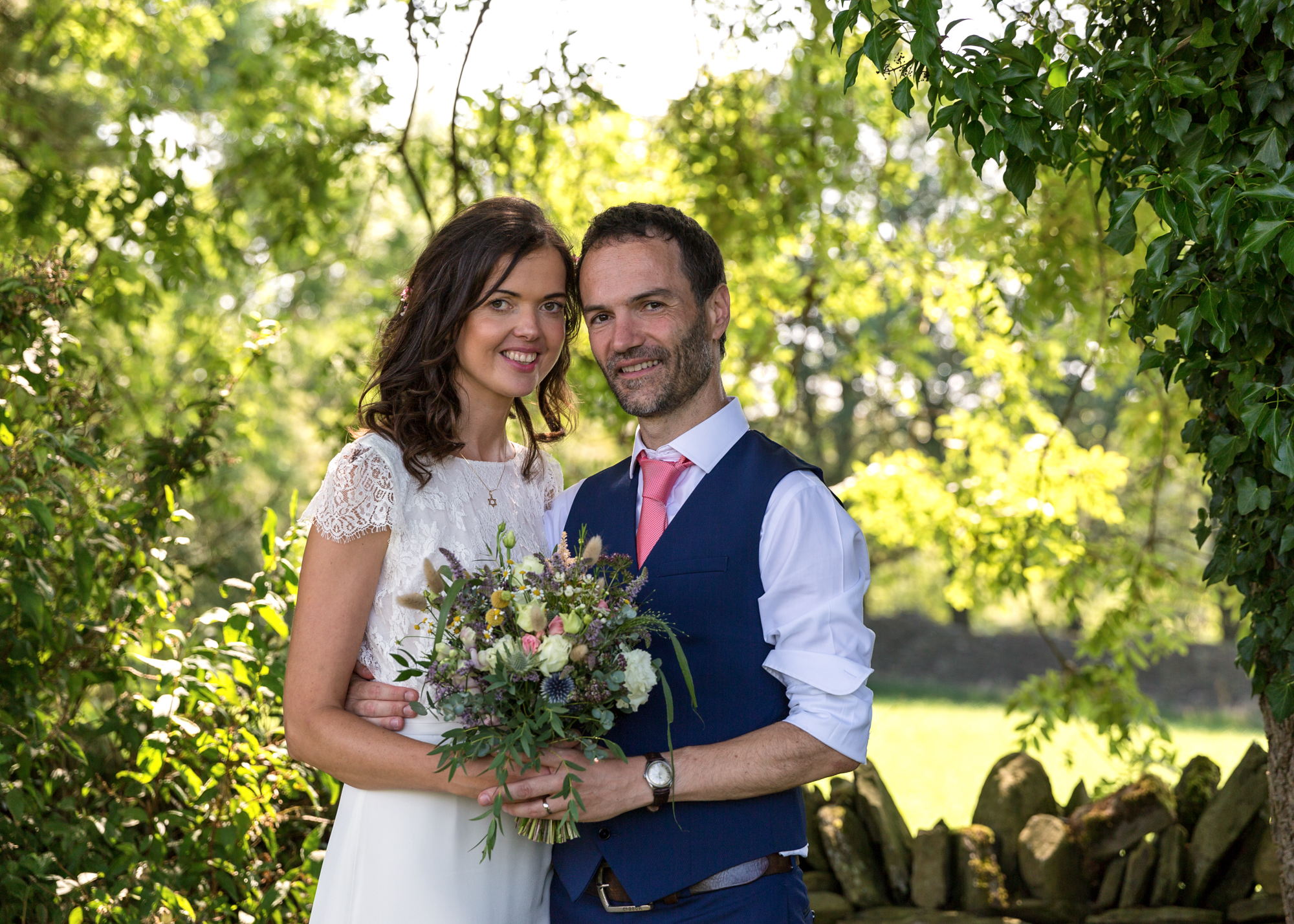 bride and groom photos at llechwen hall wedding