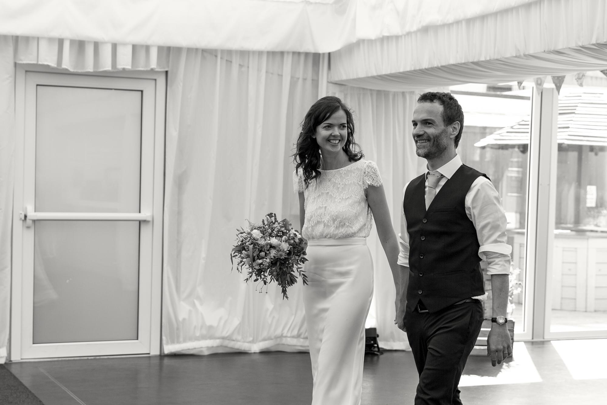 bride and groom at llechwen hall wedding