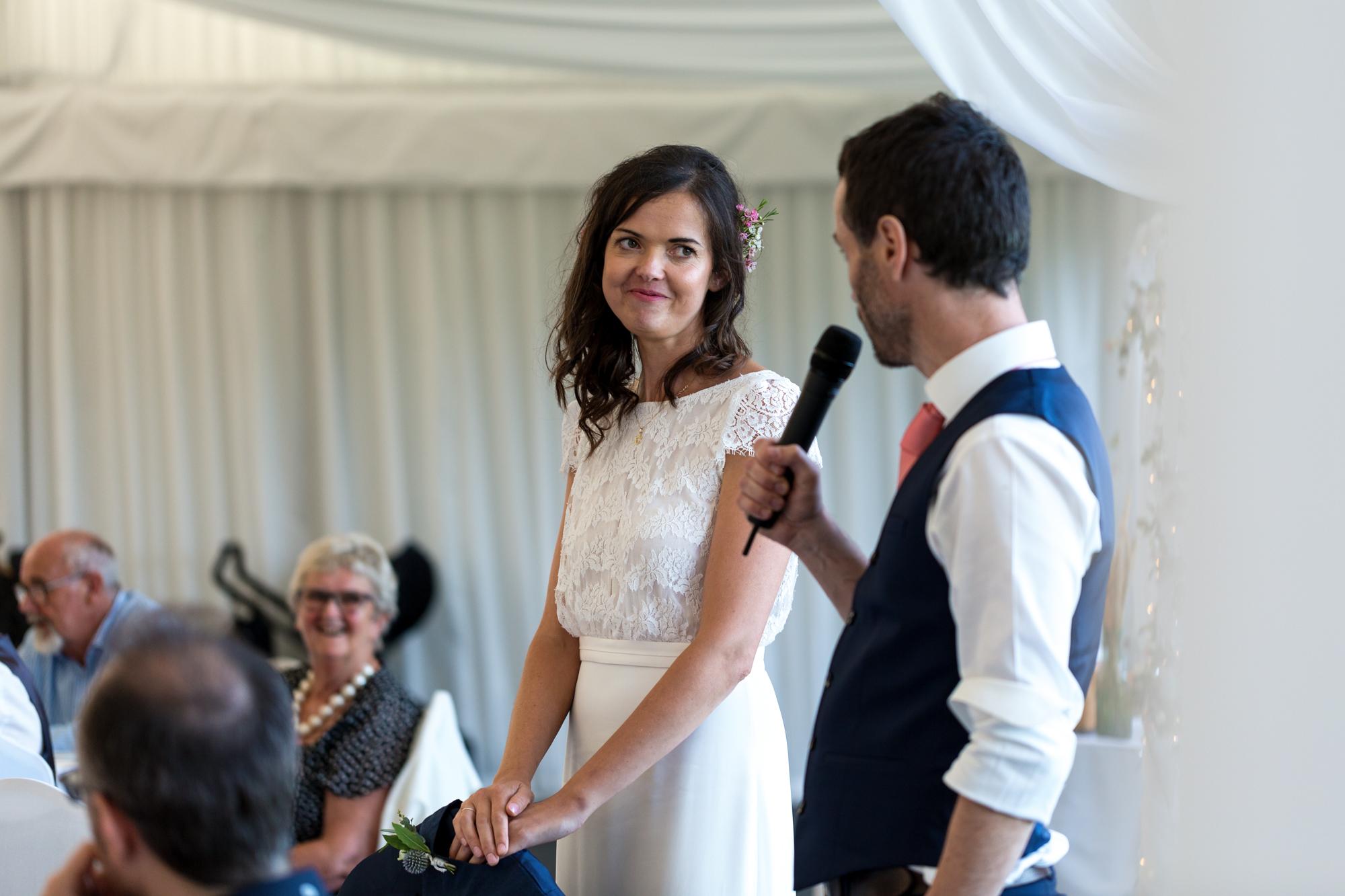 groom's speech at llechwen hall wedding