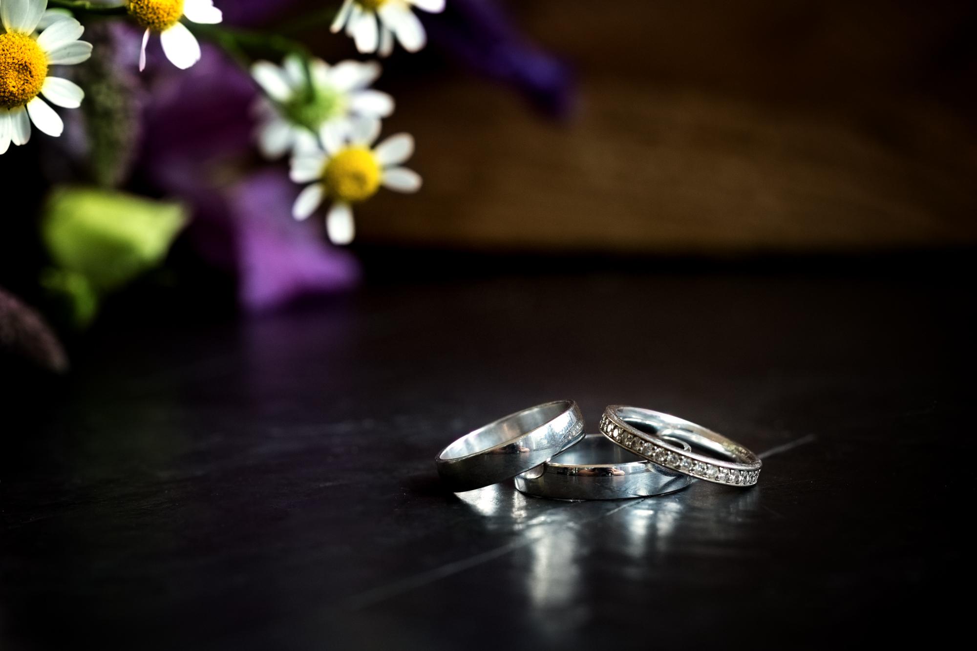 wedding rings at llechwen hall wedding