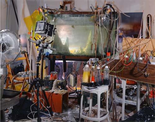Kim Keever's studio