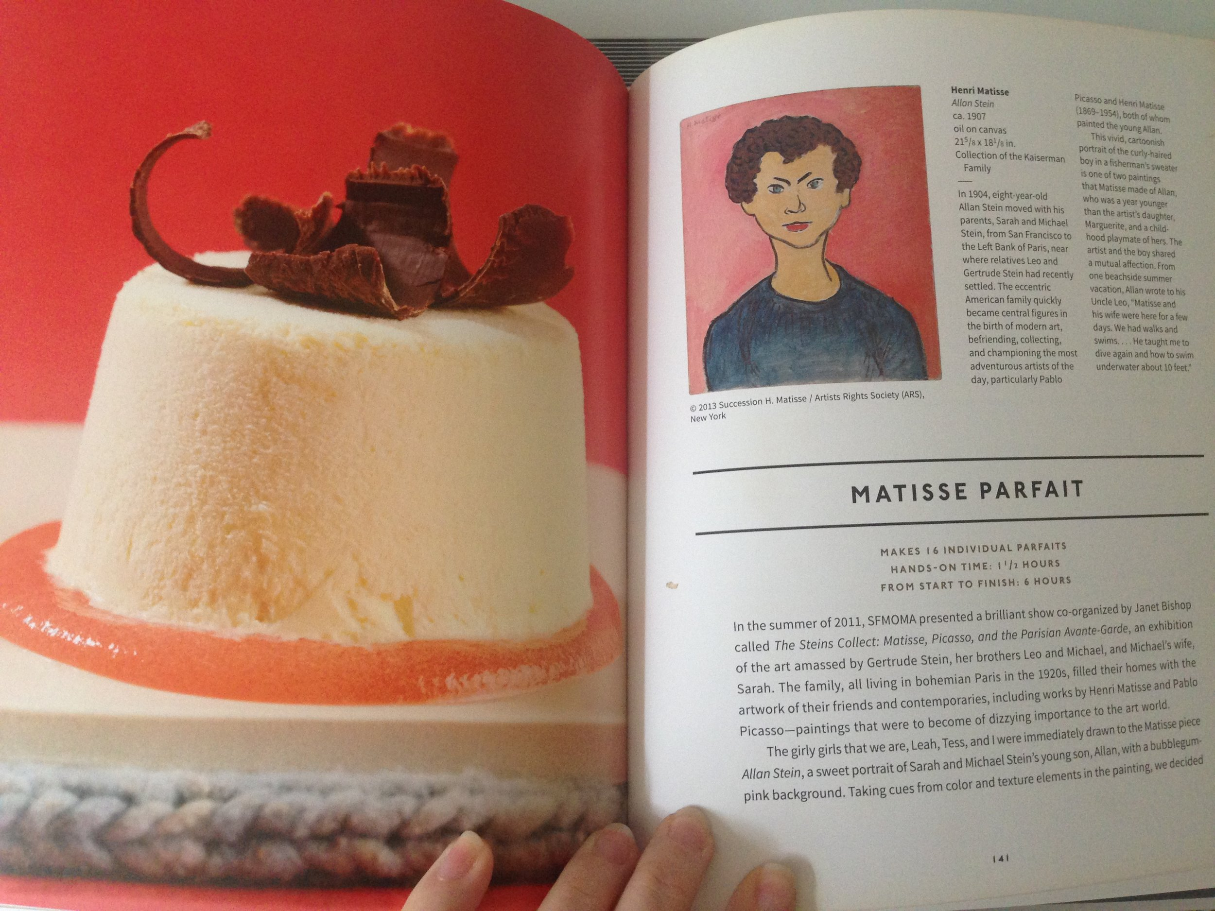 Learn how to make a Matisse inspired parfait in  Modern Art Desserts.  Like Donkey in  Shrek  you too will discover how everyone loves parfait (and onions have layers).