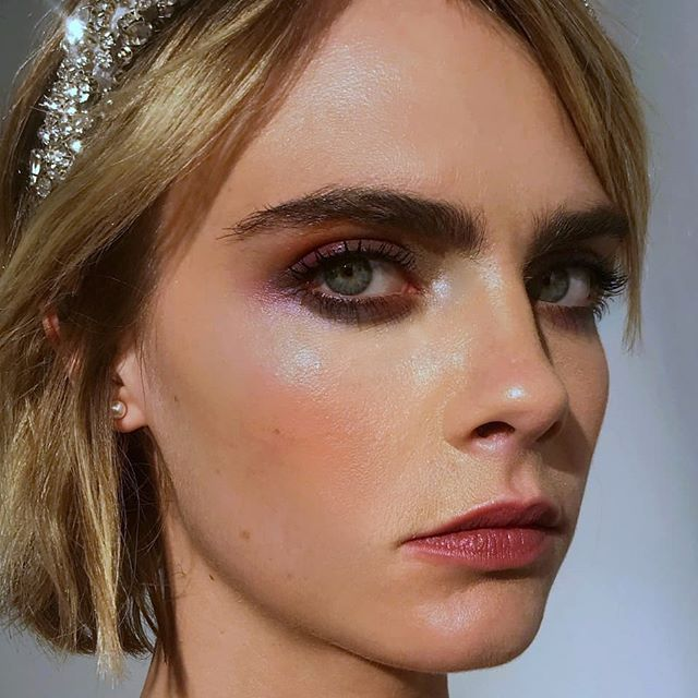 I did Caras makeup and she was a babe! @caradelevingne bts for the new @shyfx video Rudeboy Lovesong