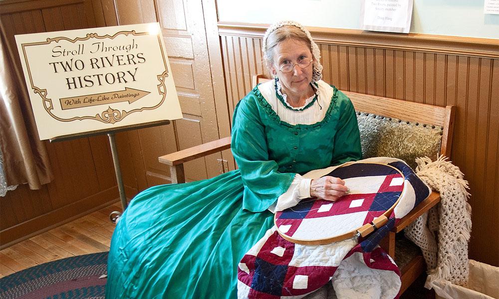 Historic Washington House - Woman in Green Dress