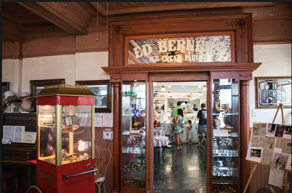 Ed Berner's Ice Cream Parlor at the Washington House