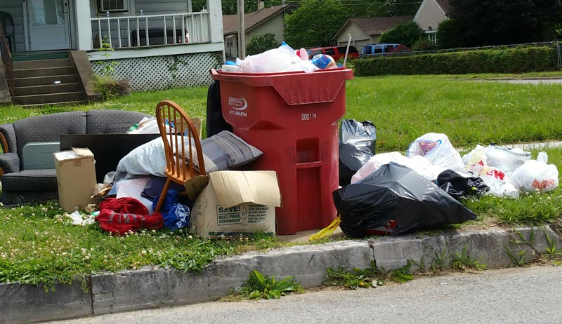 This won't work! - Cleanup day accepts nearly anything, but don't put it on the curb. Bring it to cleanup day!