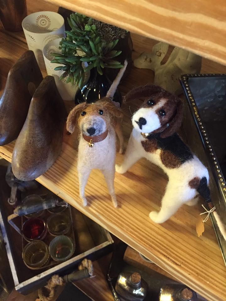 Felt animals and ornaments