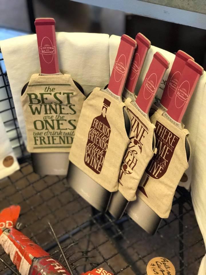 Wine bottle aprons