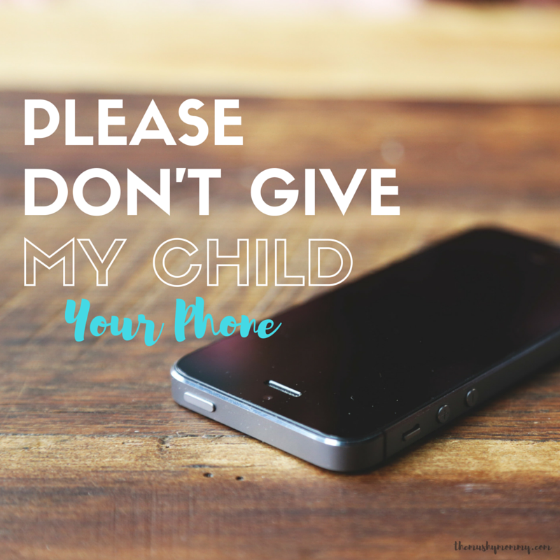 Toddlers and Cell Phones