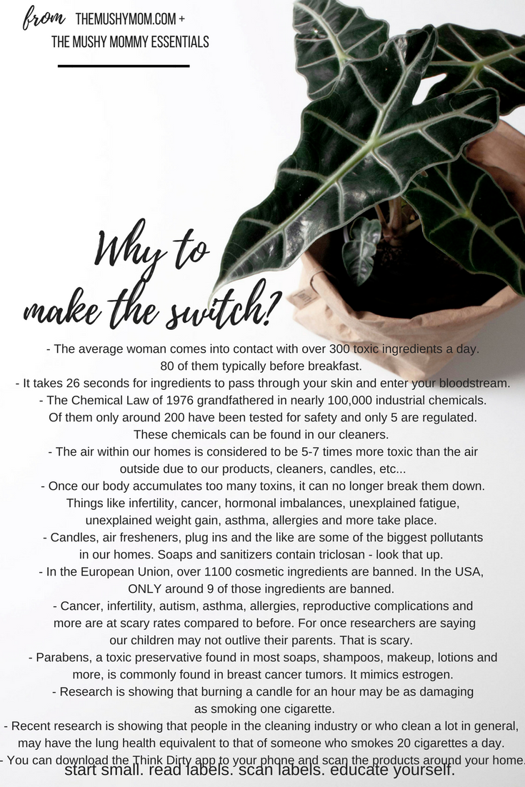 Switching to a toxin free lifestyle