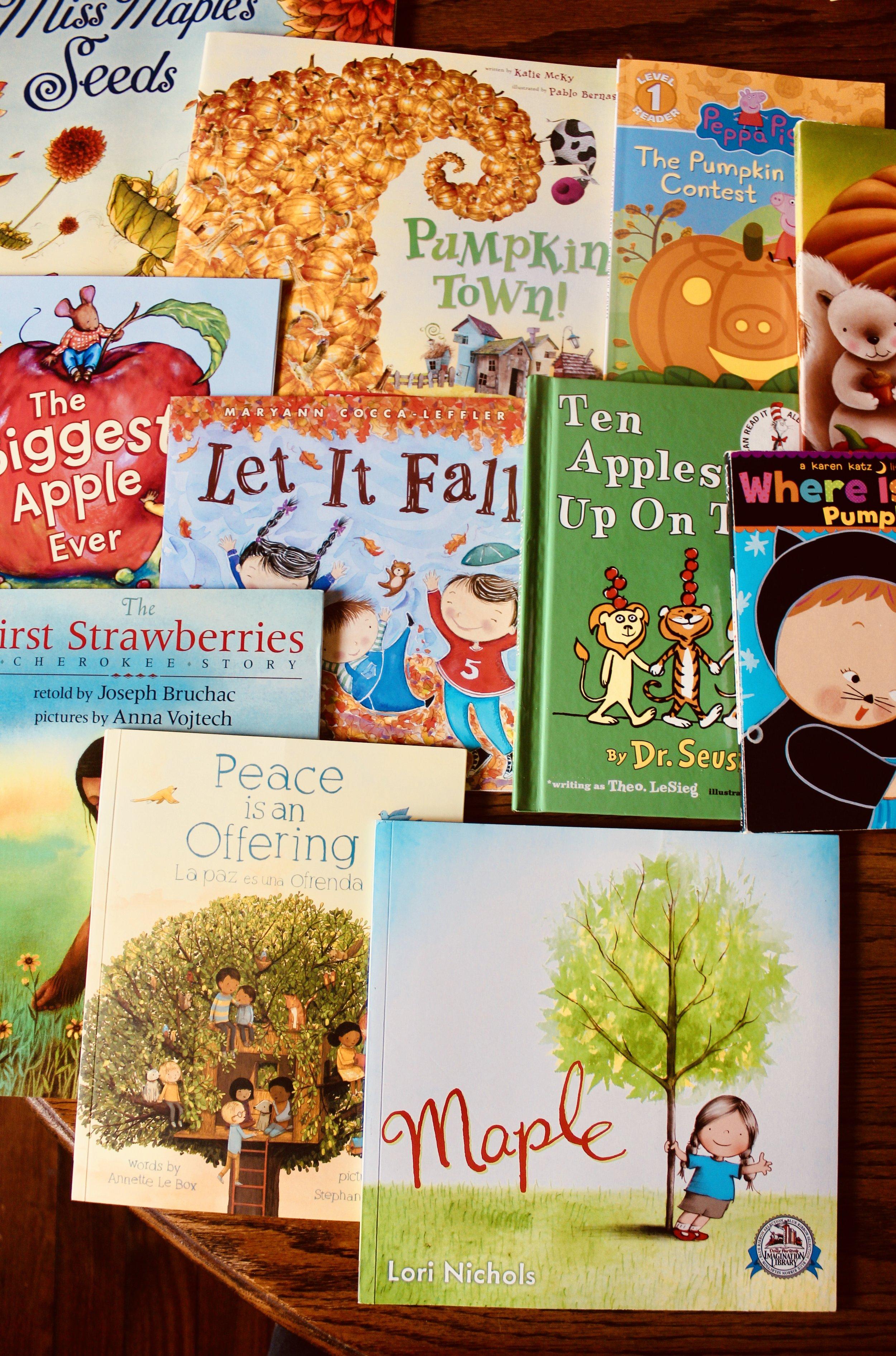 Seasonal Book Bins for the Home