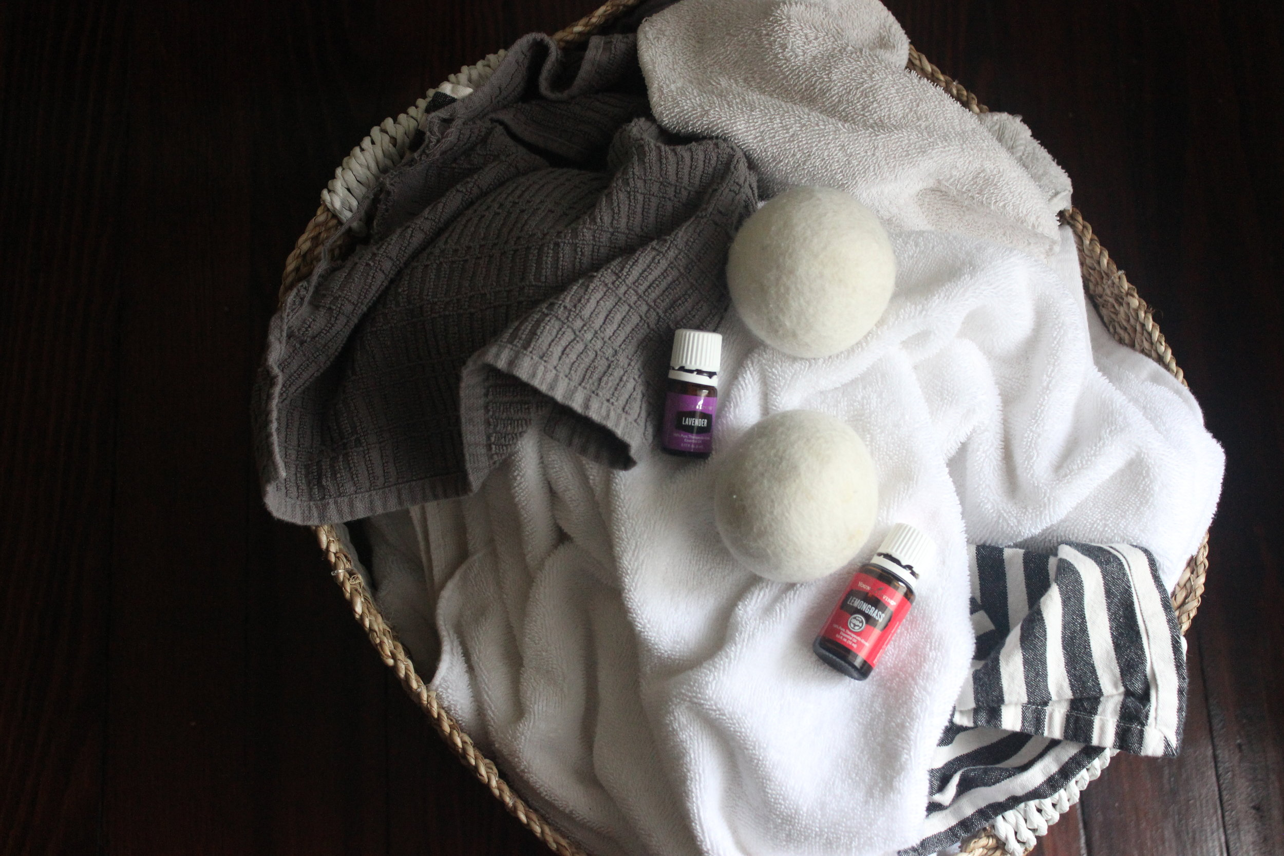 Drying with Wool Dryer balls