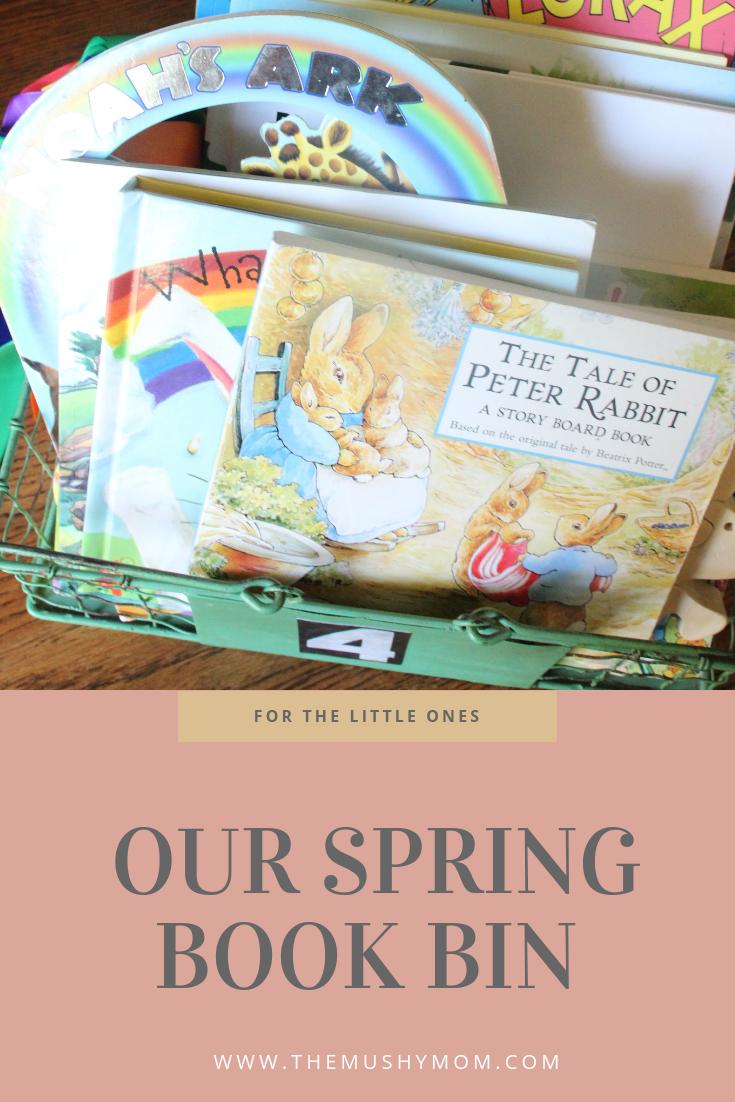 Children's Spring Book Bins