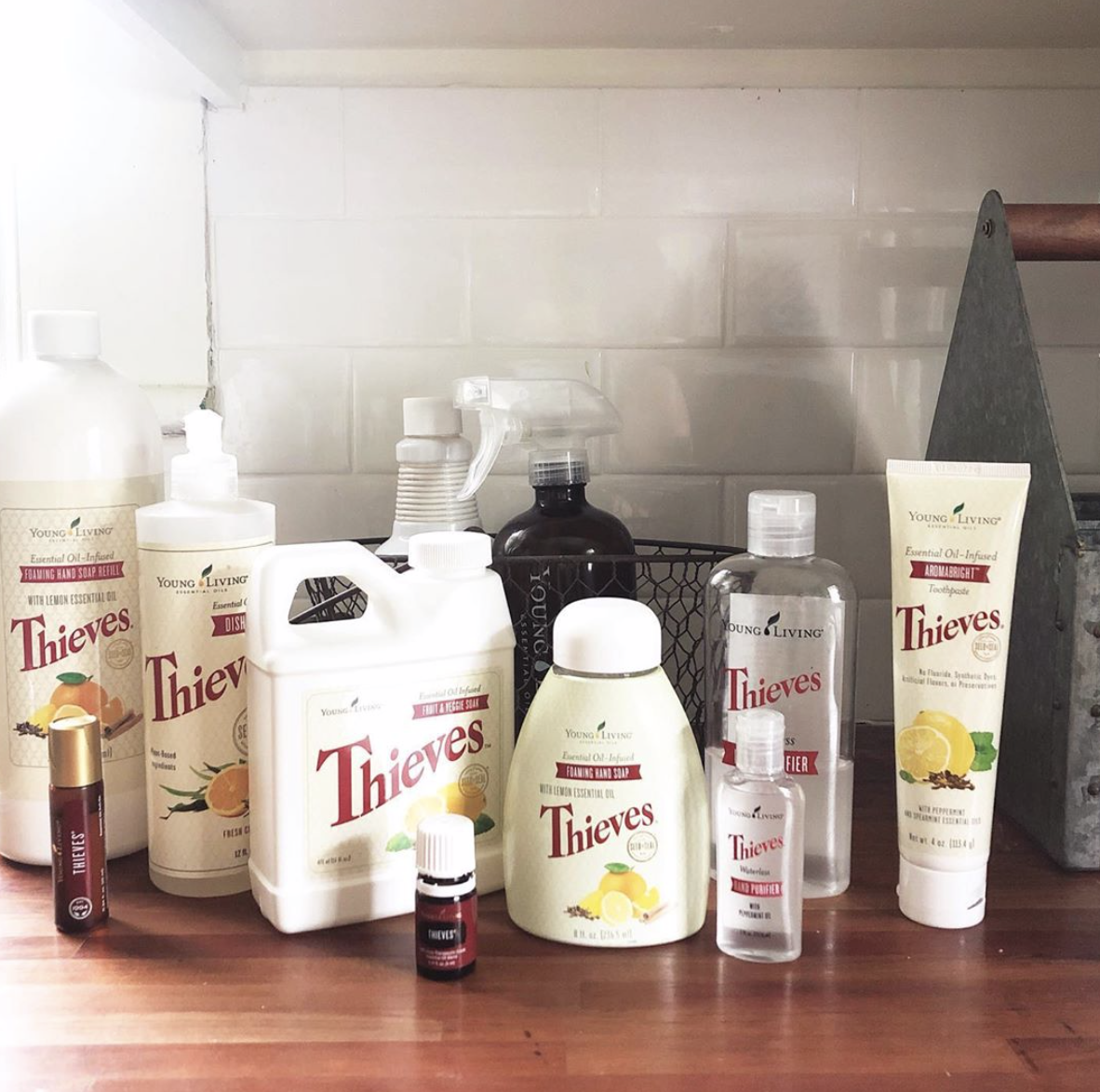 All of our cleaning products are infused with essential oils and have the power to disinfect naturally.