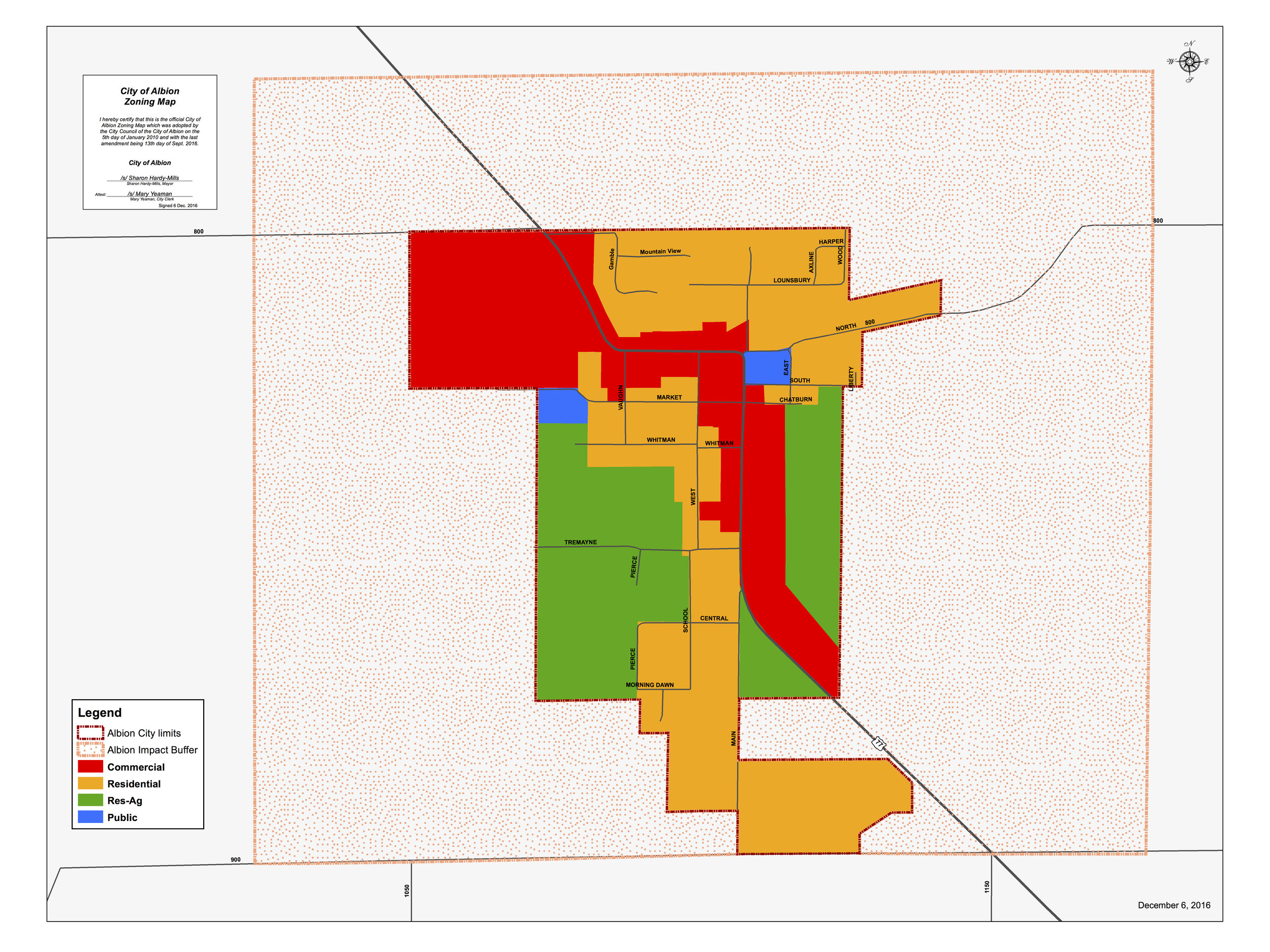Albion Planning & Zoning Map