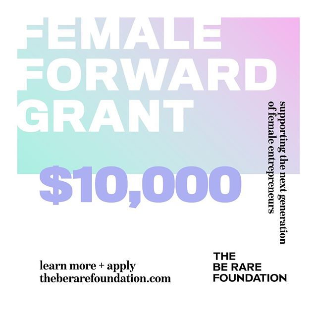 Hey ladies, it's that time again!📣 We're NOW ACCEPTING APPLICATIONS for @theberarefoundation FEMALE-FORWARD GRANT!🙌🌟This year, we will once again award $10,000 to female-identifying entrepreneurs pursuing mission-oriented projects across fashion, beauty, design, tech, media, entertainment and the arts. 📌The deadline to apply is 8/15/2019 ➡️ Click the link in @theberarefoundation's bio to apply!  Here's to the next generation of female entrepreneurs, creators, and disruptors: let's make the future.✨ #theberarefoundation #femaleforwardgrant