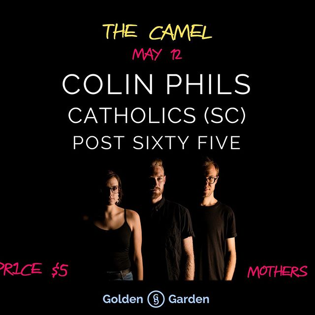 Next show is this coming Sunday (05/12) with @colinphils and @cath0lics @thecamelrva ! This is an early show so bring your friends and singly bring YOUR MOMS! • • • • • • • • • • • • • • • • • • • • • • • • • • #indierock #livemusic #rvamusicscene #richmondva #richmondmusic #mathrock #postrock #diyshows