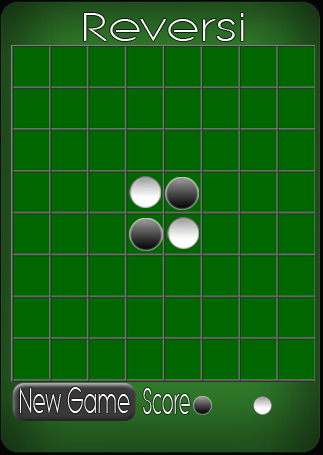 Game board design for Reversi for Palm Pre variation 1. Created in Adobe Illustrator