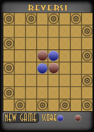 Game board design for Reversi for Palm Pre variation 3.  Created in Adobe Illustrator